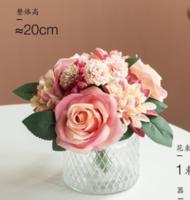 南十字星 香薰花藝套裝 北歐絹花假花仿真花客廳玫瑰裝飾擺件湖泱