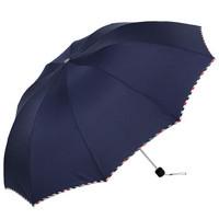 頂旺 三折十骨晴雨傘 藏青色