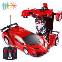變形遙控汽車電動金剛機器人男孩兒童玩具車一鍵變形車