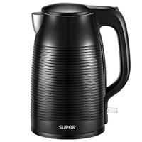 蘇泊爾(SUPOR)電水壺熱水壺 1.7L全鋼無縫雙層防燙電熱水壺