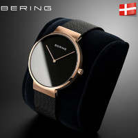 bering白令手表女進口時尚簡約女士手表鋼帶潮流小表盤女表