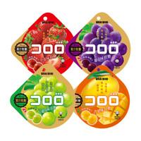 悠哈 酷露露 葡萄/白葡萄/草莓/芒果味果汁軟糖果 爆漿組合裝 52g*4