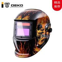 DEKO 太陽能電焊面罩自動變光防紫外線頭戴式全自動焊工液晶屏帽焊接氬弧焊燒焊帽子 MZ224