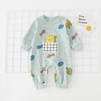 羅町 嬰兒秋裝衣服可愛連體爬服