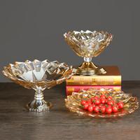 OLD EL PASO 歐式 水晶玻璃果盤