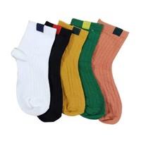 丹拉迪 兒童純棉襪子 5雙裝