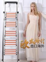 創步不銹鋼家用折疊人字梯子鋁合金加厚樓梯多功能室內便攜登高梯