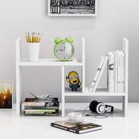 書架簡易辦公書桌面置物架收納宿舍小書柜