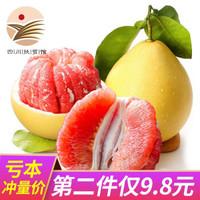 福建琯溪紅心蜜柚子 5斤裝 2枚 新鮮水果生鮮 *2件