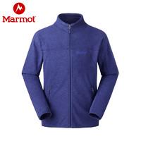 Marmot/土撥鼠戶外男士抓絨衣 彈力舒適防潑水抓絨夾克衣