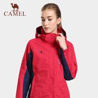 駱駝戶外沖鋒衣男女三合一兩件套可拆卸潮牌加絨加厚西藏滑雪服女 *2件