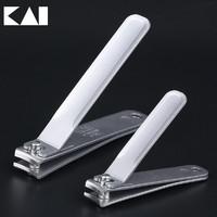 KAI貝印 全鋼指甲刀 指甲鉗 超薄磨砂面質感 圓弧形指甲刀 大小可選 *3件