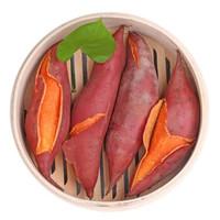 燒烤地瓜 海邊沙地新鮮紅蜜薯 5斤中果(18-25個)禮盒裝+網套