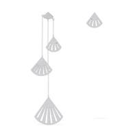 考拉海購黑卡會員 : apm MONACO CROISETTE系列 不對稱純銀鑲晶鉆扇形長耳環