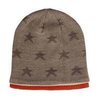 優唯美毛線帽男士雙層加厚保暖護耳帽冬季純棉針織男潮帽子 咖啡色