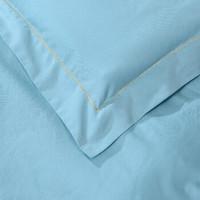 富安娜家紡 圣之花 床上四件套純棉繡花中性素色床上用品床單被套 四象星座系列 風象-水瓶座 1.8m(6英尺)床