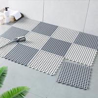 米良品 浴室隔水防滑拼接墊 6片裝