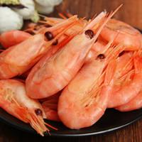 鲜佰客 加拿大野生带籽北极虾甜 大号45-60只 500g *5件