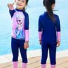 迪士尼兒童泳衣女童中大童分體長袖防曬泳裝小孩寶寶潛水服游泳衣