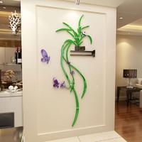 亞克力創意3d立體墻貼玄關辦公室墻上貼畫墻壁裝飾貼紙房間裝飾品