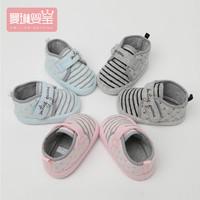 0-6-12月嬰兒步前鞋女寶寶軟底棉鞋春秋季男新生兒學步布鞋子不掉