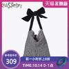 casselini日系包包女2019時尚斜挎包大蝴蝶結裝飾單肩包大容量