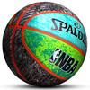 正品斯伯丁籃球7號七號橡膠學生室外NBA彩色花式炫彩比賽83-645Y