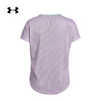 安德瑪 UA女童 Highlight 運動訓練短袖T恤-1330276