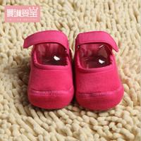 0-3-6-12個月1歲春秋薄女寶寶步前鞋夏防滑不掉軟底嬰兒鞋子不掉