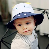 夏季女寶寶帽子春秋薄款男寶潮漁夫帽新生兒0-1歲嬰兒遮陽帽子