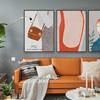 簡美式風格簡約客廳裝飾畫輕奢北歐臥室床頭人物抽象服裝店墻壁畫