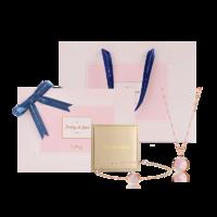 韓國設計 14K金珍珠母貝項鏈手鏈禮盒