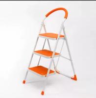JIAYI 家逸 多功能折疊三步圓弧階桔色步梯