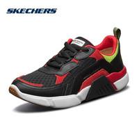 Skechers斯凯奇2019新品女鞋 时尚潮鞋网布拼接运动休闲鞋68854 黑色/多彩色/BKMT 36.5