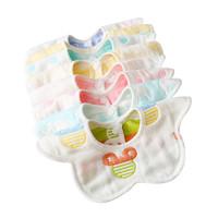babytool 倍比途 嬰兒紗布圍兜 口水巾 6條裝