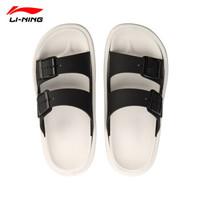李宁(LI-NING)夏季新款男子轻便防滑凉鞋沙滩鞋拖鞋 标准黑/标准白-1 45 (11)