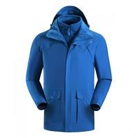 凱樂石 戶外防風防水保暖  男款三合一沖鋒衣兩件套KG110207