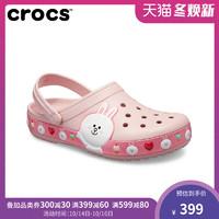 Crocs洞洞男女卡駱馳LINE Friends卡駱班涉水沙灘包頭涼鞋|205791