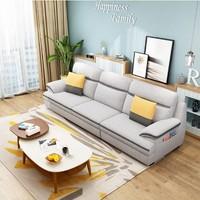 左右 5018-1 现代简约可拆洗布艺沙发 三人位