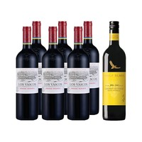 LAFITE 拉菲 巴斯克特酿 干红酒葡萄酒 750ml*6瓶+禾富黄牌*1瓶