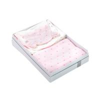 预售:全棉时代 PurCotton  2019粉色小花婴儿用品护理八件套礼盒手帕