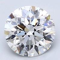 Blue Nile 1.00克拉 圆形切割钻石(切工EX,成色E,净度VS1)