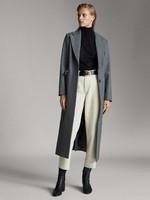 限尺碼 : Massimo Dutti 06408403802 女士長版羊毛大衣