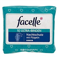 facelle 夜用无香棉柔护翼型卫生巾 32cm 10片