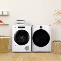 1日0点、61预告:Midea 美的 MG100V70WD5+MH100-H1W 10KG 热泵烘干 洗烘套装