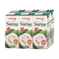 日本POKKA 刺果番荔枝释迦鲜果汁饮料250ml*6盒 *2件