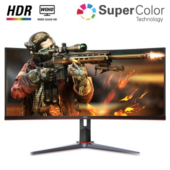 AOC CU34G2X 34英寸 VA显示器(144Hz、1ms、119%sRGB、1500R、HDR10)