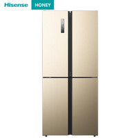 1日0点、61预告:Hisense 海信 哈利系列 BCD-410WMK1DPQ 十字对开门冰箱 410L