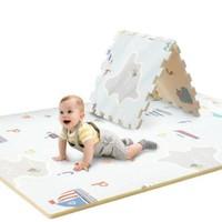 澳乐 宝宝拼接爬行垫婴儿童爬爬垫环保XPE加厚爬行毯地垫 森林乐园+趣味字母120*180*2cm AL1918082607 +凑单品