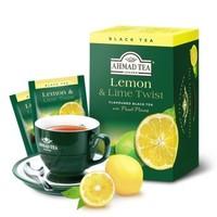 英國亞曼AHMAD TEA檸檬紅茶包 水果調味紅茶袋泡茶2g*20包 *3件